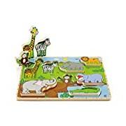 Hape HAP-E1451 Wild Animals Stand Up Puzzle