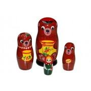 Bear three little animal Matryoshka (Russian folklore) foursome (japan import)