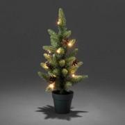 Konstsmide LED Weihnachtsbaum mit Tannenzapfen, 10 warmweiße Dioden