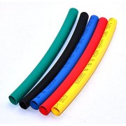 MA High Quality 6mm in 2 Mtr. Black Red Green Yellow Blue Polyolefin Assortment Ratio 2:1 Heat Shrink Tubing Tube Sleeving For Wrap