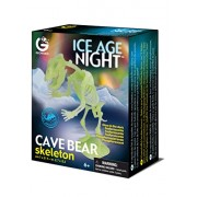 Geoworld CL599 Ice Age Night - Cave Bear Glow-in-the-Dark Skeleton, Multi Color