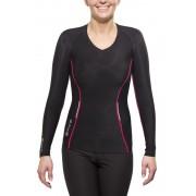 Skins A200 Long Sleeve Top Women black/pink 2015 Running