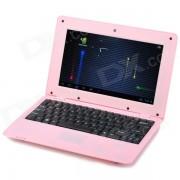 """RUNN710C 10.1 """"LCD Android 4.0 Netbook w / LAN / RJ45 / camara / SD Card Slot - Rosa"""