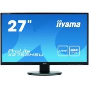 iiyama ProLite X2783HSU-B1 27' LED LCD 1920x1080 4ms AMVA+ 300cd/m² 12M:1 ACR VGA HDMI DVI speakers USB-HUB TCO6
