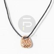 Kosárka medál textil nyakláncon - arany bevonatos