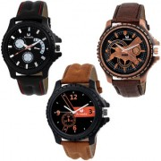 Armado AR-526182 Combo Of 3 Smart Analog Watches-For Men