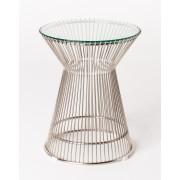 Warren Platner Lamp/Side Table-stainless steel frame