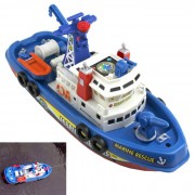 Electric Water Police Boat Toy
