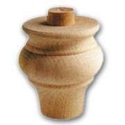 Pata Para Móviles de Cebolla Ontano de Madera 70 X 75 mm Art.03. 0111-0112