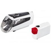 Trelock LS 560 I-GO CONTROL+LS 720 REEGO Akkubeleuchtung-Set wei