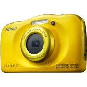 Aparat Foto Digital NIKON Coolpix W100, 13.2MP, Zoom Optic 3x, Wi-Fi (Galben)
