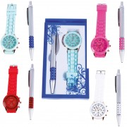 reloj style silicona + boligrafo