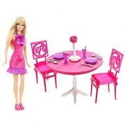 Mattel Barbie Doll and Dining Room Gift Set