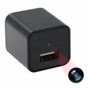 1080P HD USB Wall Charger Mini camara con memoria de 8GB (enchufe de la UE)