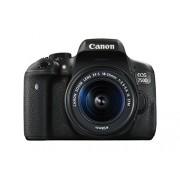 Canon EOS 750D Fotocamera Reflex Digitale, 24 Megapixel, Obiettivo EF-S 18-55 mm IS STM, Nero/Antracite