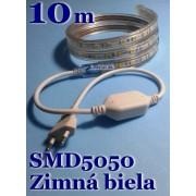 Ledstar kompletná sada 220V 10m SMD5050 60LEDm 14,8Wm Zimná biela IP67