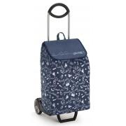 Gimi New Easy húzós bevásárlókocsi kék mintás - 145082