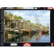 Educa - 16313 - Puzzle Classique - Bateaux à Quai - 2000 pièces