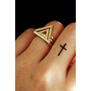 Zaful Double Hollow Triangle Rings