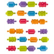 Fisher Price 24 Snap-Locks Beads PASTEL Pack of x24 Beads