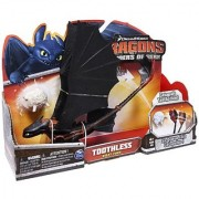 DreamWorks Dragons Defenders of Berk - Action Dragon Figure - Toothless Night Fury (Catapult Tail)
