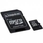 Card memorie 4GB MicroSD HC Clasa 4 cu adaptor SD, Kingston SDC4/4GB