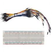 SunFounder Solderless Breadboard Prototype PCB Board MB102 830 Tie-Points + Male to Male Jumper Wires Flexible 65pcs