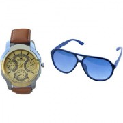 stylis brown watch with google