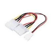 HQ 5.25'' apa - 5.25'' anya + 3 tűs ventilátor átalakító kábel
