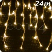 FDL LED Eiszapfen Lichterkette 24m statisches Licht warmweiss