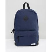 ASOS Темно-синий парусиновый рюкзак с основанием из искусственной кожи ASOS