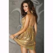 Mini-Vestido Ousado Dourado