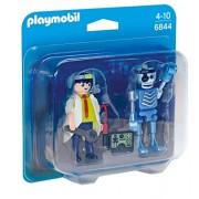 Playmobil City Action Scientist with Robot Duo Pack - figuras de construcción (Multi, De plástico, Cualquier género)