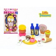 Creative Ice-cream sweet treats pretend play set from Little Treasures – Complete with desserts, ice cream, cones...