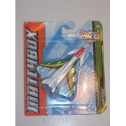 "MATCHBOX Sky Busters 'HEADQUARTERS SERIES"" Flight Strike Supersonic Fighter Jet (WHITE, GREEN & RED EDITION) Die Cast Airplane by Matchbox"