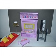 Barbie Size Dollhouse Furniture- Modern Comfort Living Room Family Room Tv Home Audio Couch Light