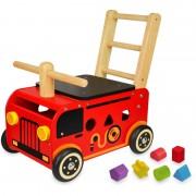 Im Toy Loopwagen Brandweer met Blokken
