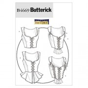 McCall's Patterns B4669 Butterick - Patrón para corsé (tallas 34, 36, 38 y 40), color blanco