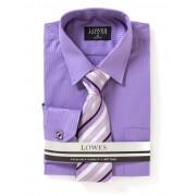 Lowes Self Stripe Premium Shirts - Lilac 46