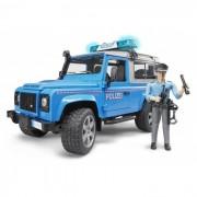 Bruder - land rover defender - station wagon polizia con poliziotto