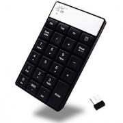 SR Wireless Numeric Keypad Nano Usb Mini Numpad Number Pad Keyboard For Desktop Laptop PC Notebook Black