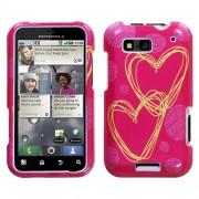 Protector Funda Motorola MB525 Defy Rosa Corazones