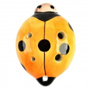 Mariquita Estilo 6 hoyos C -Key Instrumento Ocarina Musical - Orange