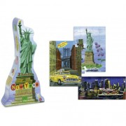 Vilac New York 3 Wood Puzzles by Nathalie Lete