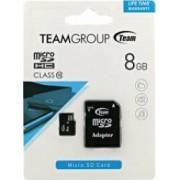 Card de Memorie Team Group microSDHC 8GB Clasa 10 + Adaptor SD
