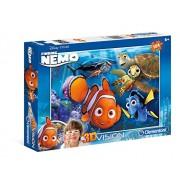 """Clementoni 20070.2- Puzzle 3D """"Alla ricerca di Nemo"""", 104 pezzi"""