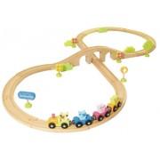 House of Toys - 450370 - Trenino in legno con numerosi accessori, 30 pz.