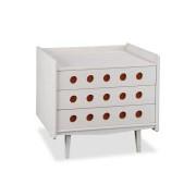 Cômoda Vintage Branco/Vermelho - Maxima