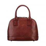 Damen Mock Croc Leder Tote Handtasche in Braun - Schultertasche, Umhängetasche, Shopper, Henkeltasche