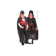 Fekete köpeny piros gallérral